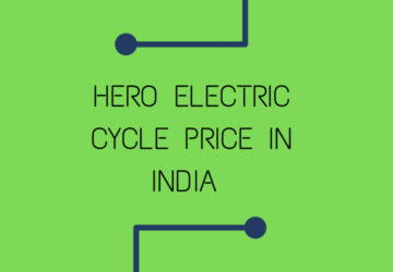 Hero Electric Cycle Price In India In 2020