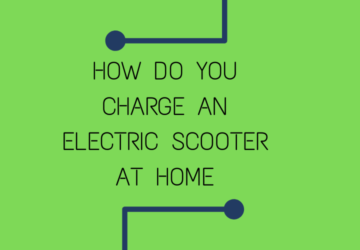 How do you charge an electric scooter at home