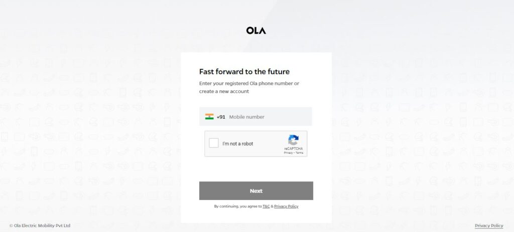 ola electric scooter booking step 3